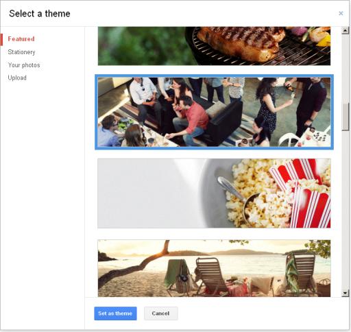 Google+ pasirink temą viršeliui